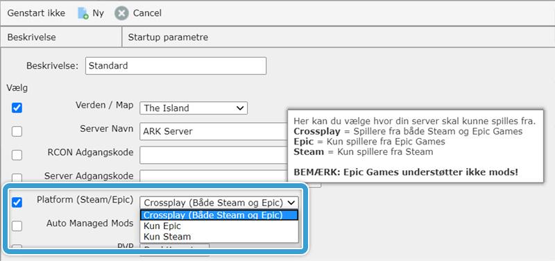 Aktiver Crossplay på din ARK-server hos Nice-Hosting
