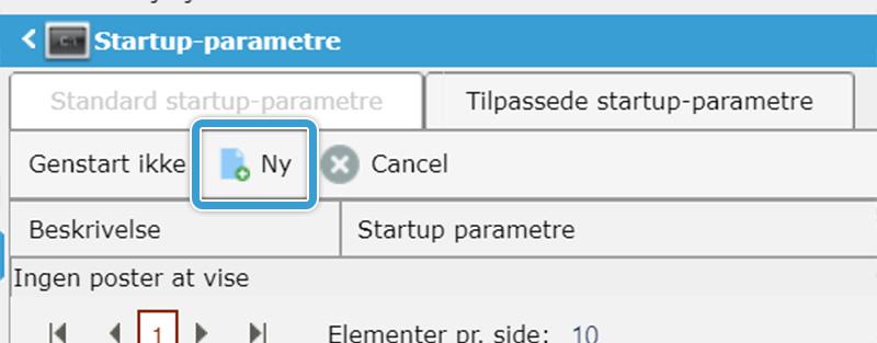 Opret et nyt tilpasset startup-parameter på din server hos Nice-Hosting