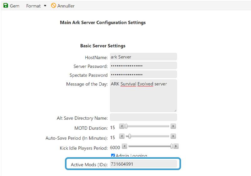 Installer en Mod på din ARK Survival Evolved Server hos Nice-hosting