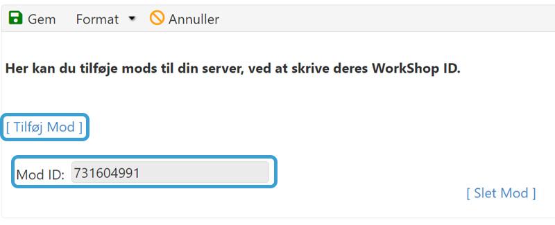 Tilføj MOD ID til din ARK:SE server hos Nice-Hosting