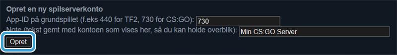 Registrer din CS:GO server med en Steam Token