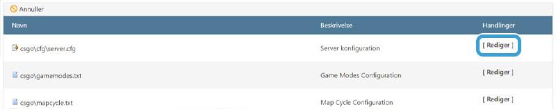 Rediger din CS:GO servers indstillinger hos Nice-Hosting