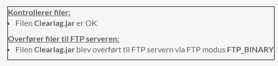 Pluginnet er nu uploadet til din server