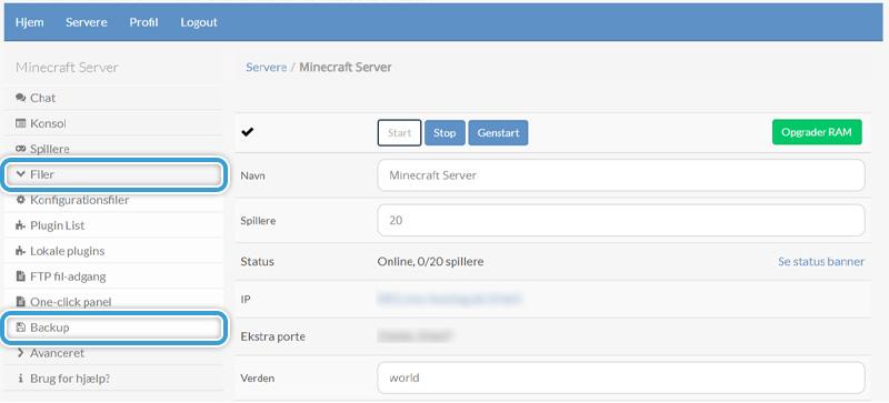 Tag backup af din server hos Nice-Hosting