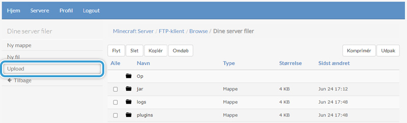 Upload dit server-icon til din server hos Nice-Hosting