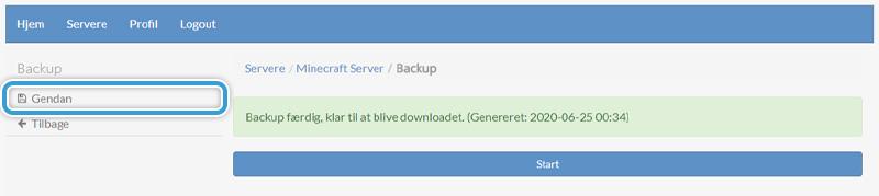 Gendan fra en backup af din servers verden hos Nice-Hosting