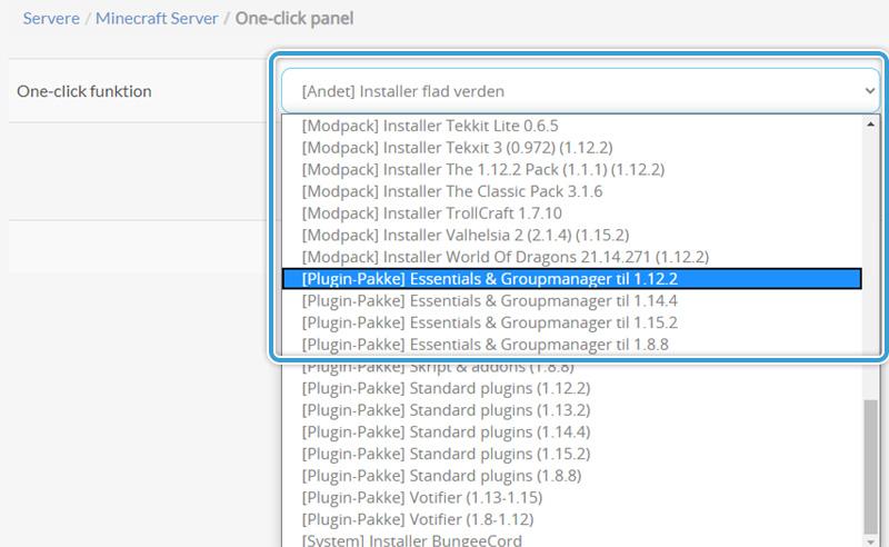 Installer Groupmanager på din Minecraft Server hos Nice-Hosting
