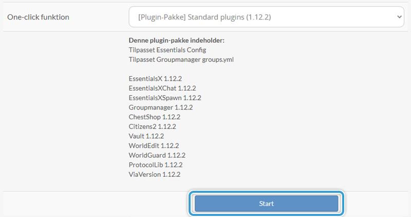 Start installationen af en Plugin-Pakke hos Nice-Hosting