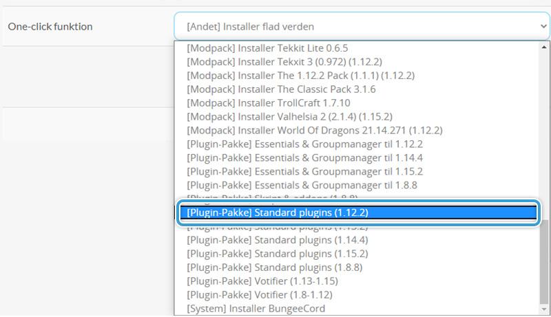 Installer en gratis plugin-pakke hos Nice-Hosting