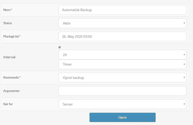 Opsæt automatisk backup på din server hos Nice-Hosting